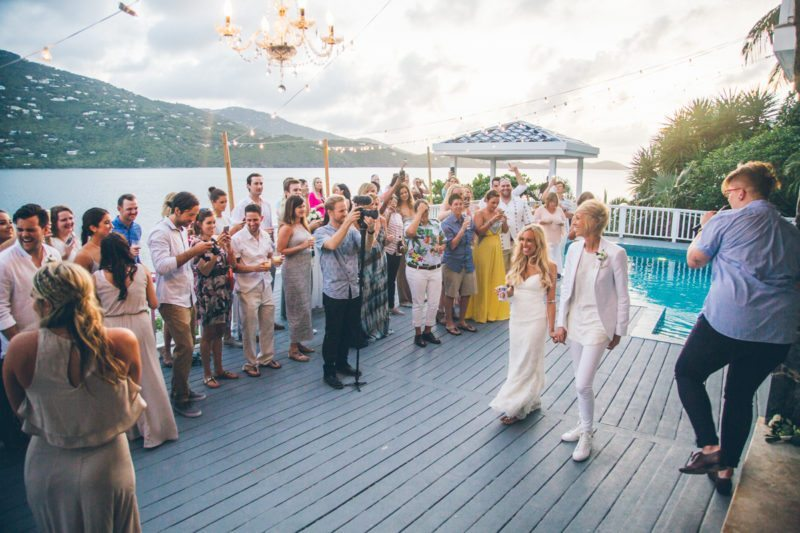 CASSIE AND KAYLAN VIRGIN ISLANDS LESBIAN WEDDING