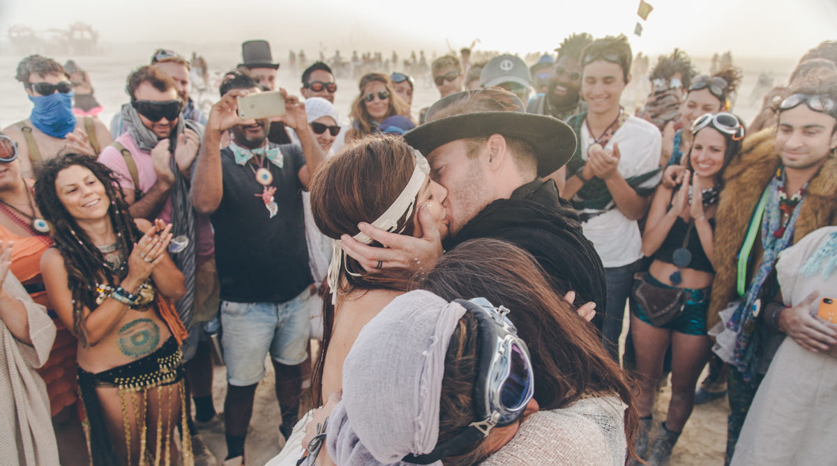 Kat Cole Burning Man Wedding Steph Grant