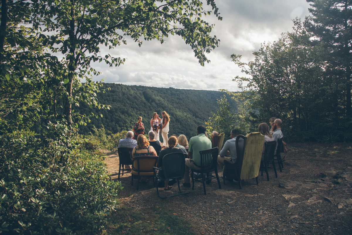 Intimate West Virginia Lesbian Wedding Steph Grant